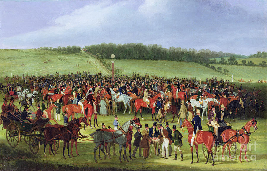 Epsom Painting - Epsom Races - The Betting Post by James Pollard
