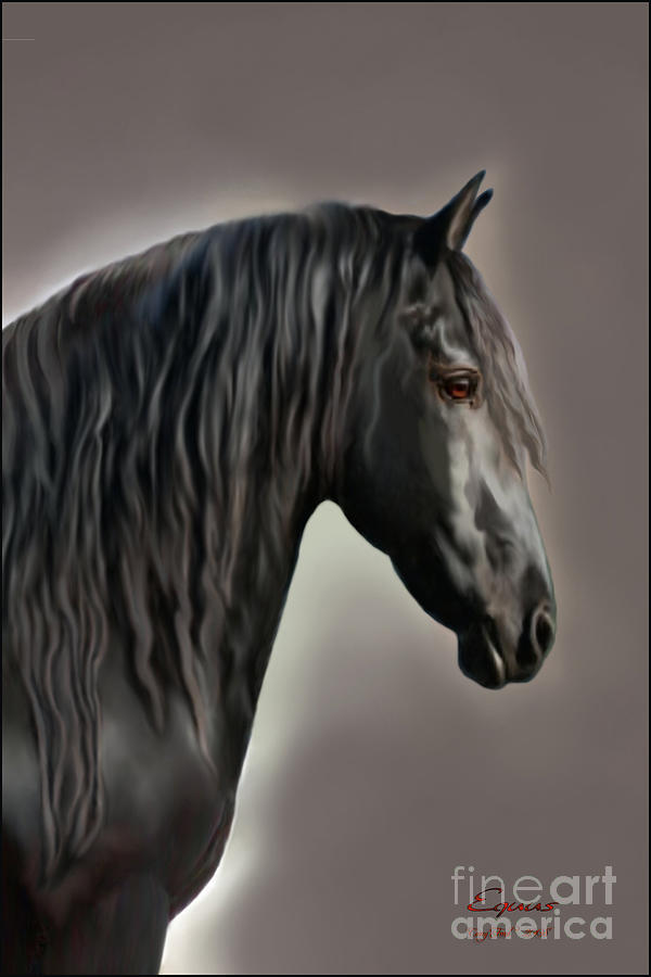 Friesian Painting - Equus by Corey Ford