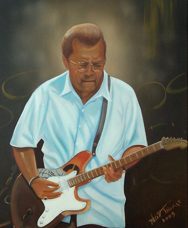 Portrait Painting - Eric Clapton by Helen Thomas