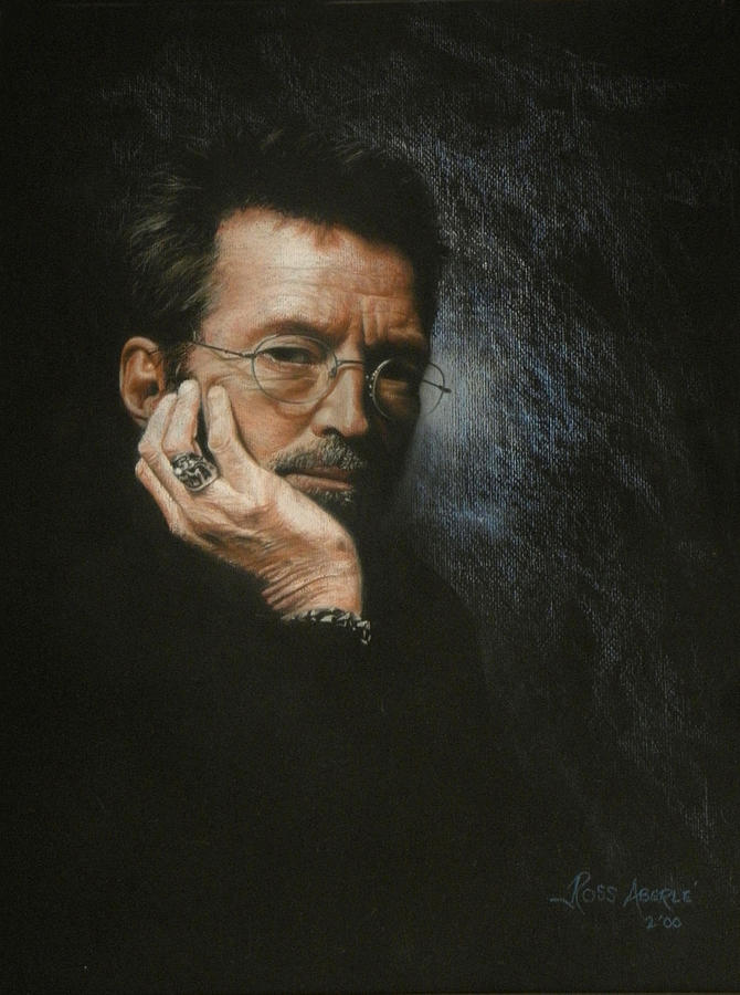 Portrait Painting - Eric Clapton by Ross Aberle