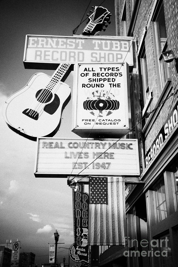 Broadway Photograph - ernest tubbs record shop on broadway downtown Nashville Tennessee USA by Joe Fox