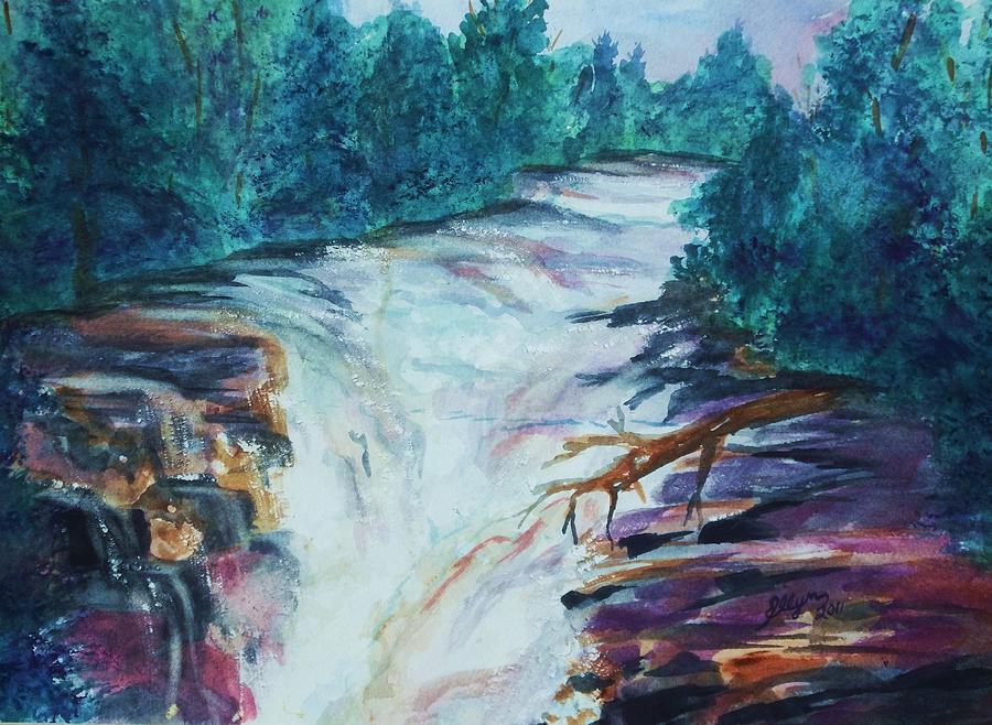 Esopus Painting - Esopus Creek by Ellen Levinson