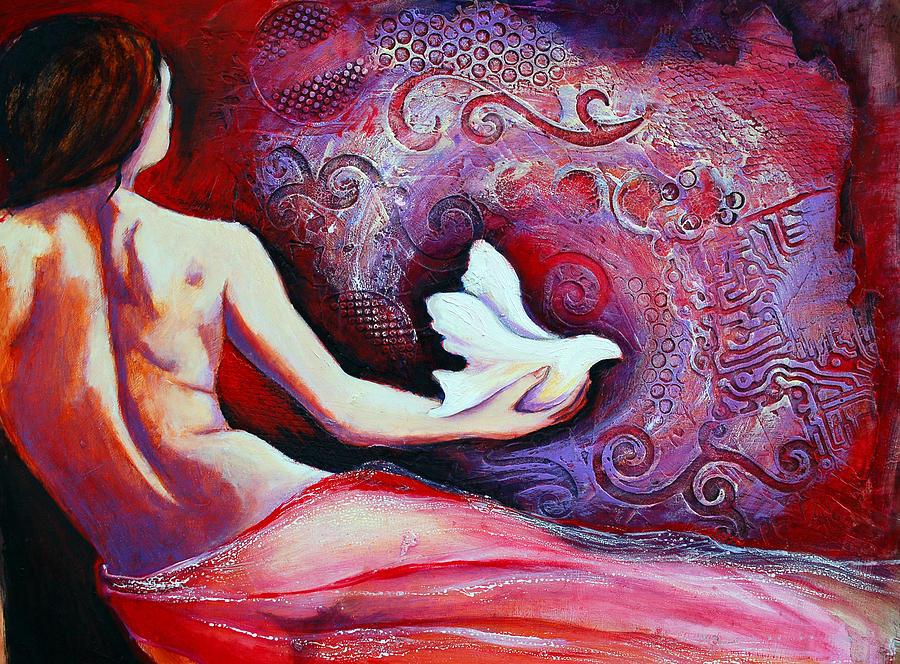 Nude Painting - Esperanza by Claudia Fuenzalida Johns