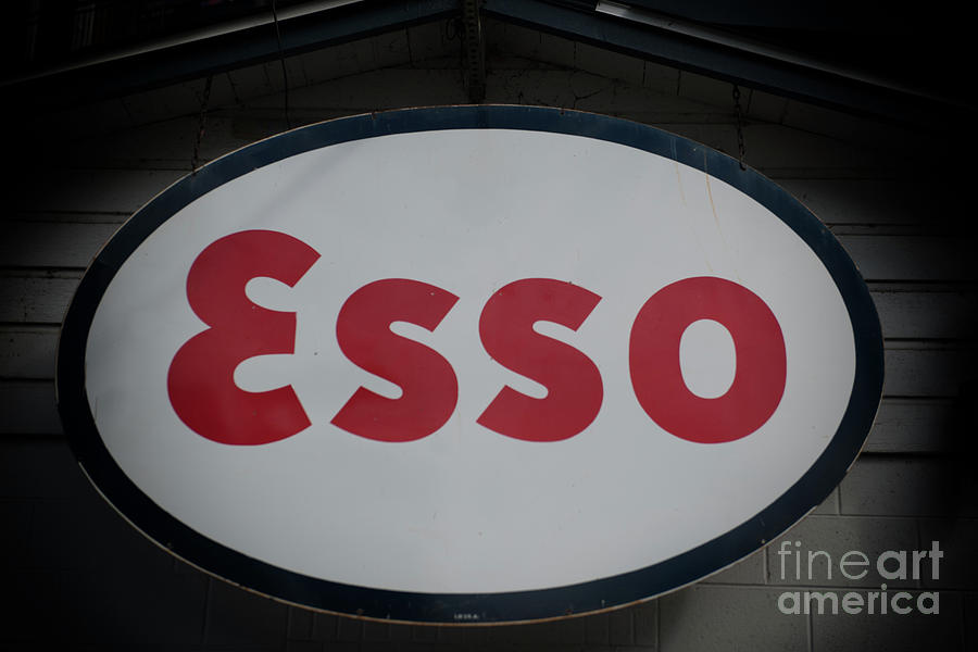 Esso Metal Sign Photograph