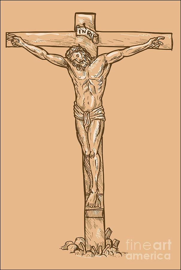Иисус христос распятия рисунки