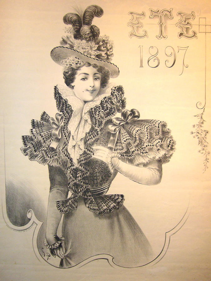 Ete 1897 Vintage French Fashion Poster Mixed Media By Anonymous