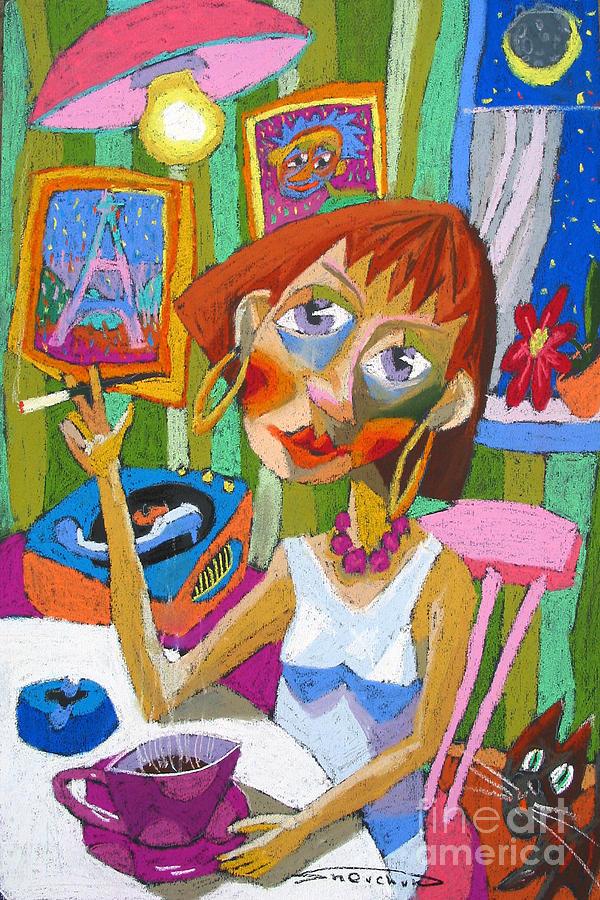 Pastel Painting - Evening Dream by Yuriy  Shevchuk