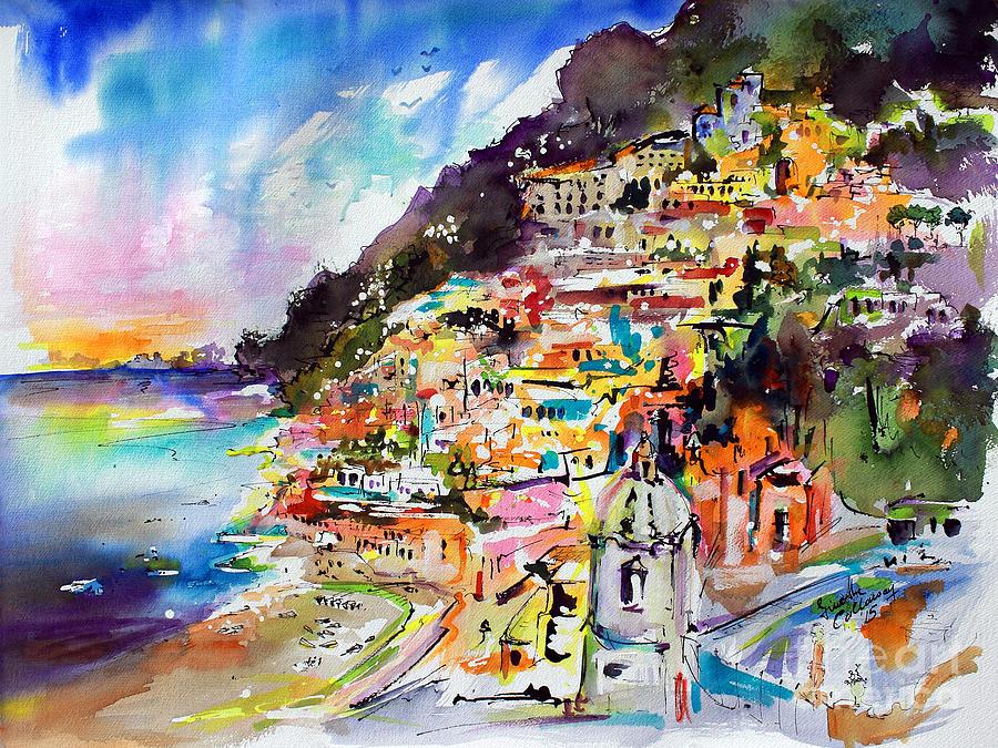 Positano Italy Oil Painting