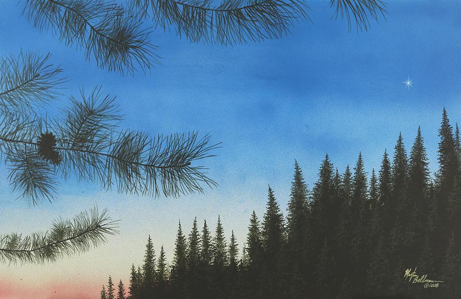 Acrylic Painting - Evening by Martin Bellmann