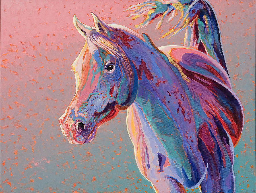 Equine Art Painting - Evening Run by Bob Coonts