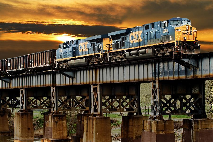 Train Photograph - Evening Run by Tim Wilson