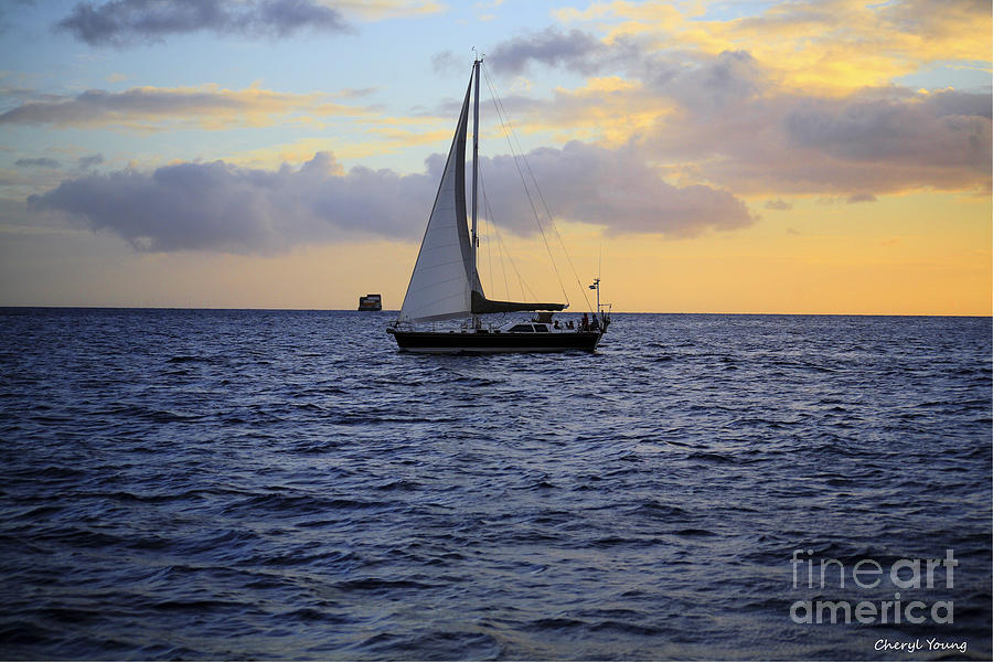 Images Of Ocean Photograph - Evening Sail by Cheryl Young