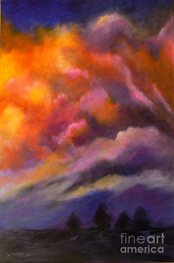Clouds Painting - Evening Symphony by Alison Caltrider
