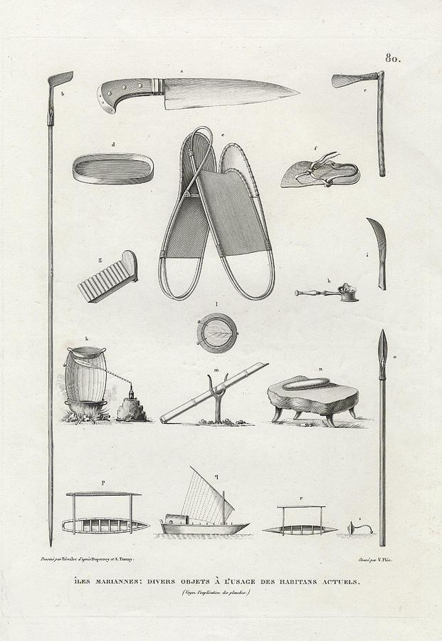 Knife Drawing - Everyday Items On Guam And Mariannas by dApres Duperrey