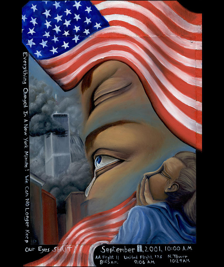 911 Painting - Everything Changes In A New York Minute by Karen Musick