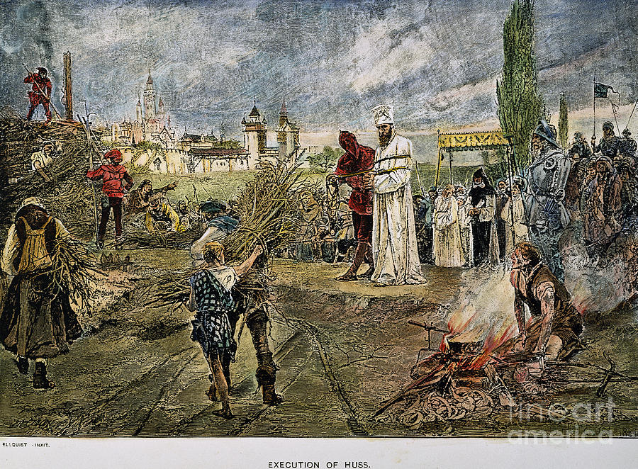 15th Century Photograph - Execution Of Jan Hus, 1415 by Granger
