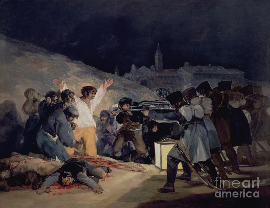 Execution Painting - Execution Of The Defenders Of Madrid by Goya