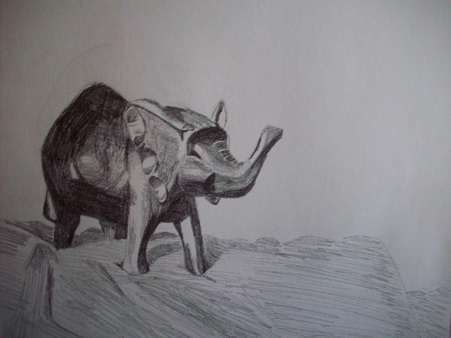 Elephant Drawing - Exploration by Caitlin Binkhorst