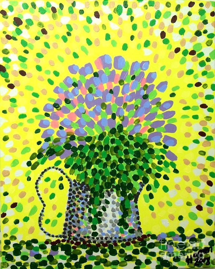 Flowers Painting - Explosive Flowers by Alan Hogan