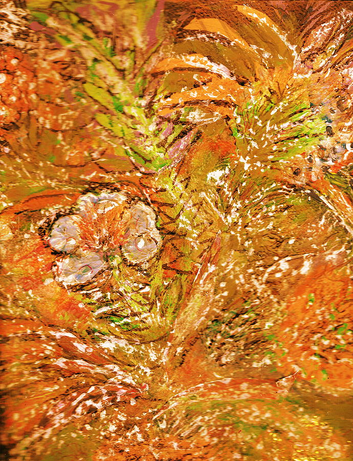 Orange Painting - Extravaganza Orange by Anne-Elizabeth Whiteway