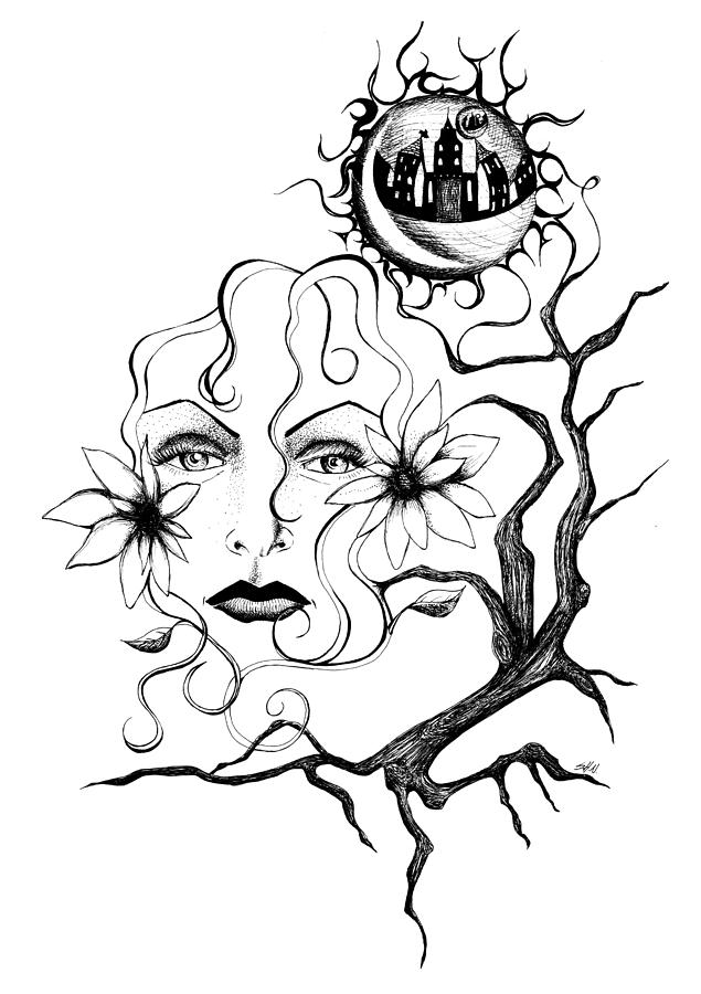 Ink Drawing - Eye Of The Beholder by Shawna Rowe