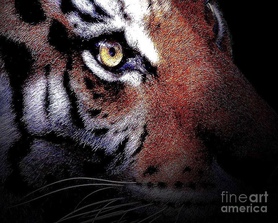 Tiger Digital Art - Eye Of The Tiger by Wingsdomain Art and Photography