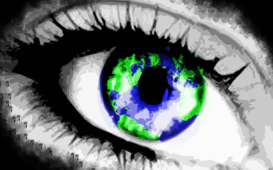 Earth Painting - Eye Of The World by Danielle Kasony