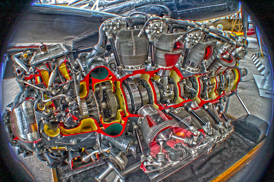 f4u corsair radial engine cutaway f4u corsair photograph by dan quam