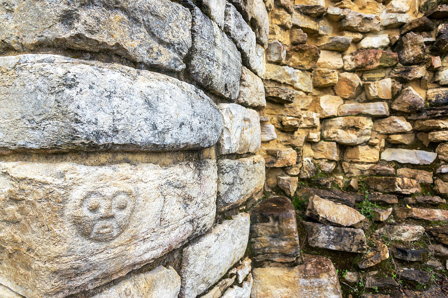 Face carving in kuelap peru photograph by jess kraft