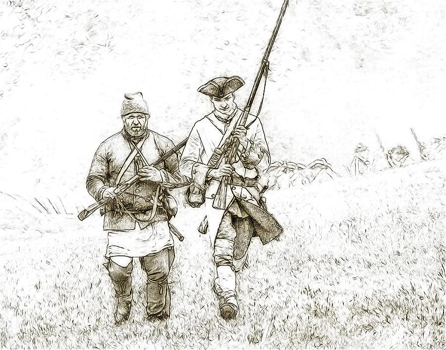 Face Of Danger Soldier Sketch Digital Art