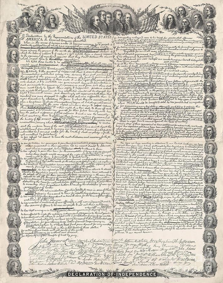 Facsimile Of The Original Draft Of The Declaration Of ...