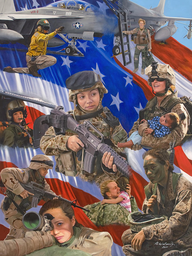 War Painting - Fair Faces Of Courage by Karen Wilson