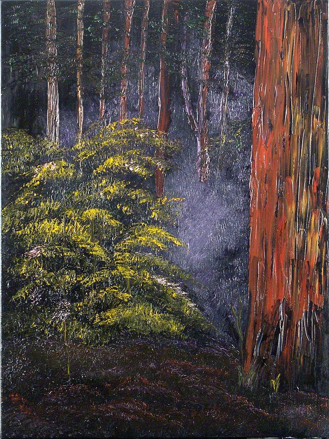Landscape Painting - Fairies by Helene Lagoudakis