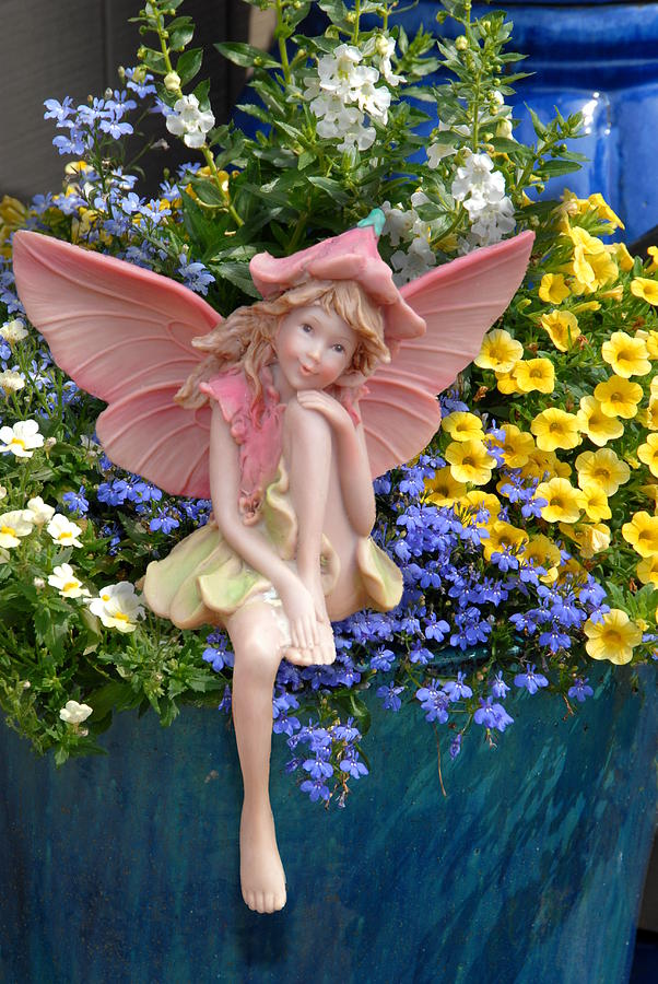 Ceramic Fairy Art Photograph - Fairy 86 by Joyce StJames