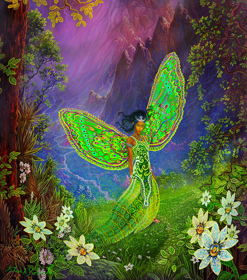Fairy Painting - Fairy Princess by Steve Roberts