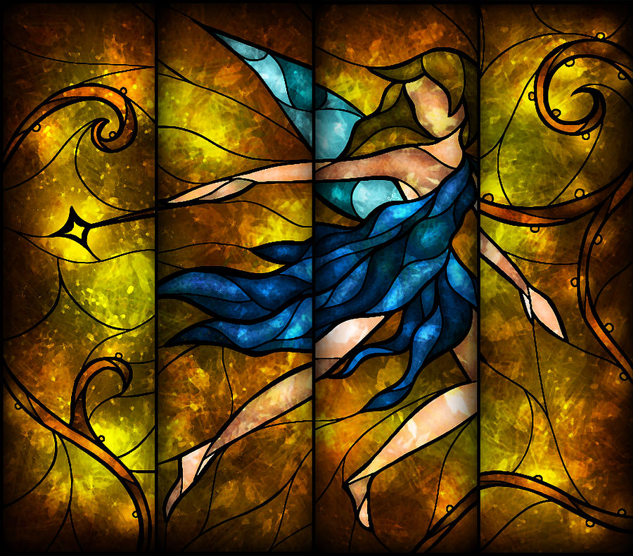 Fairy Digital Art - Fairy Tetraptych by Mandie Manzano