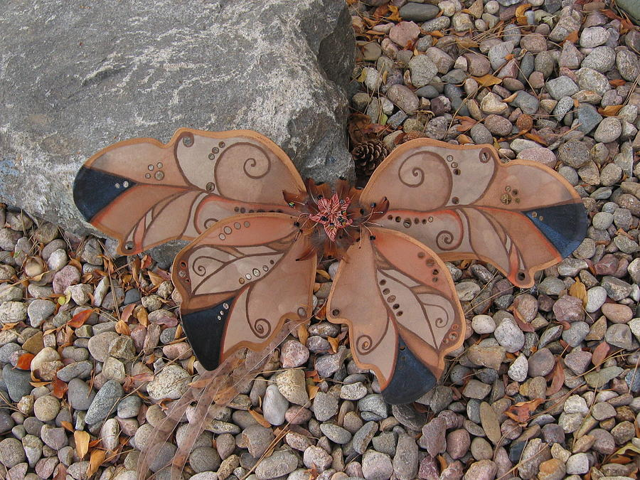Fairy Sculpture - Fairy Wings- Brown by Katherine Nutt