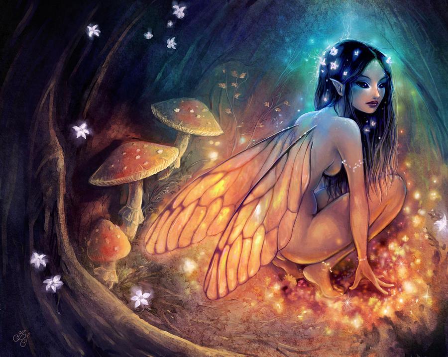 Fantasy Painting - Fairydust Nest by Caroline Jamhour