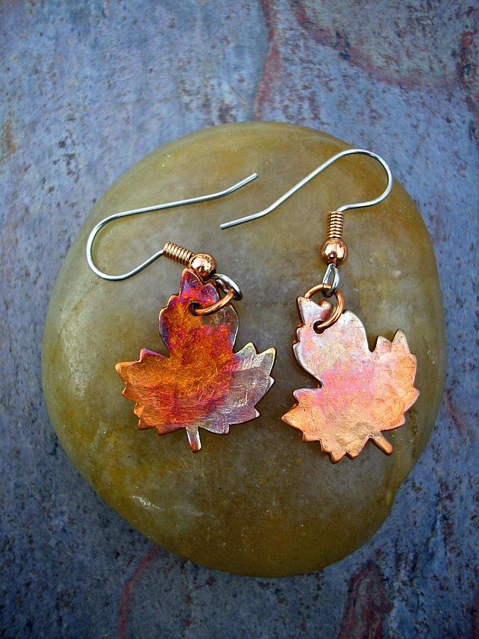 Leaf Jewelry - Fall Beauty by Angie DElia