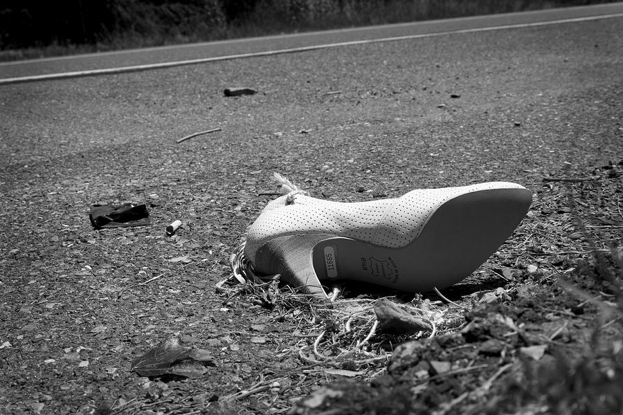 Shoe Photograph - Fallen by Kevin Brett