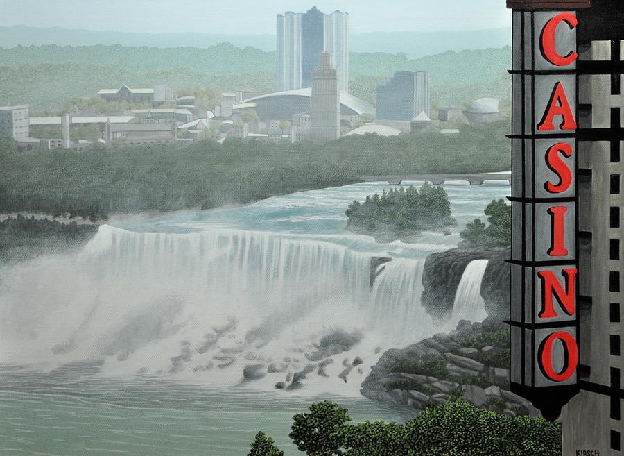 Niagara Falls Painting - Falls View by Kenneth M  Kirsch