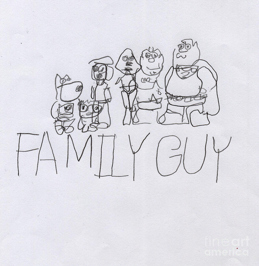 Family Guy Pencil Sketch Painting