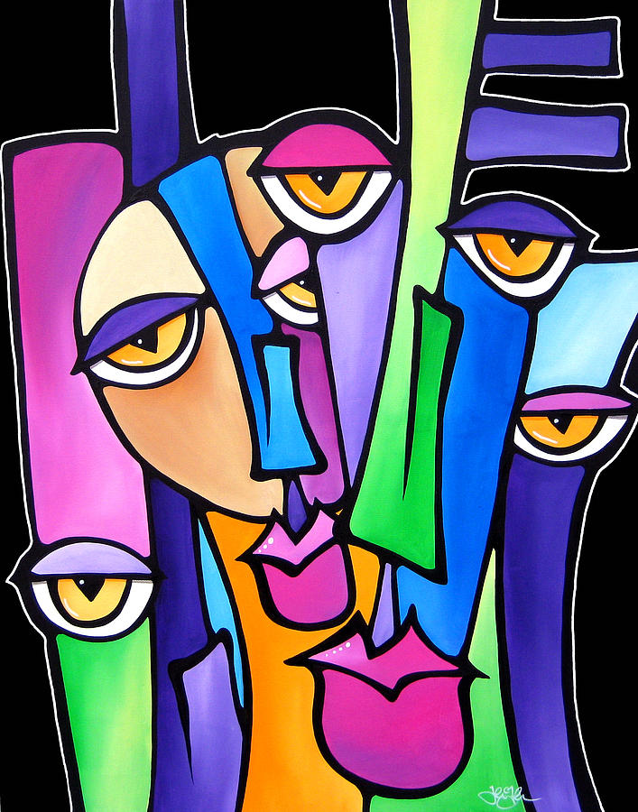 Fidostudio Painting - Family Time by Tom Fedro - Fidostudio