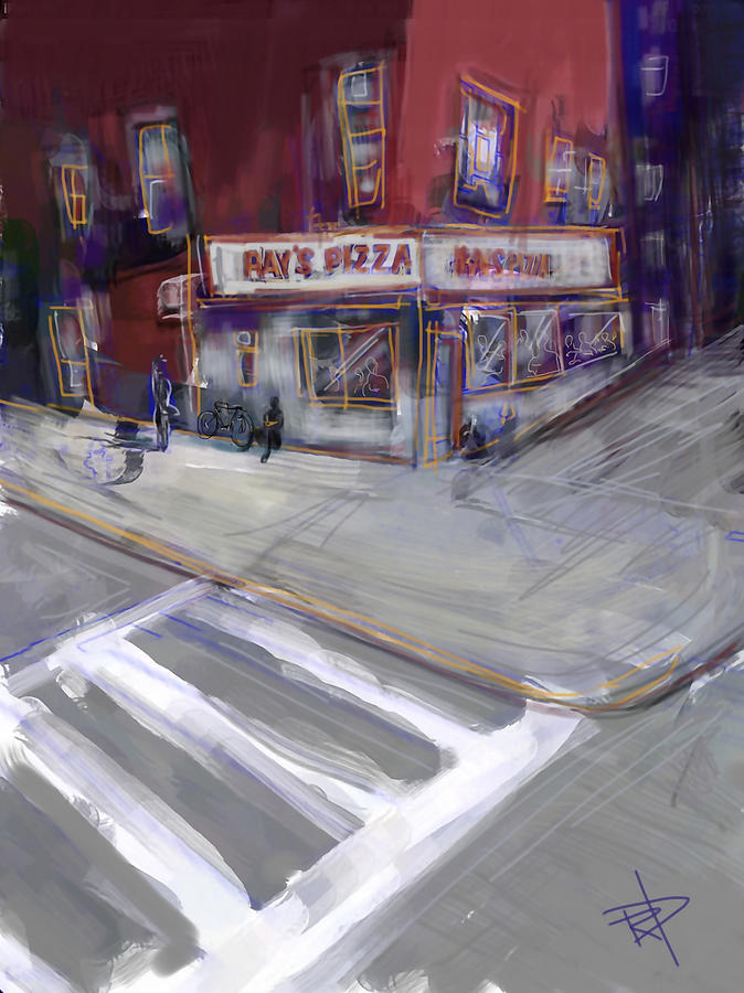 Famous Ray's Pizza Digital Art - Famous Rays by Russell Pierce