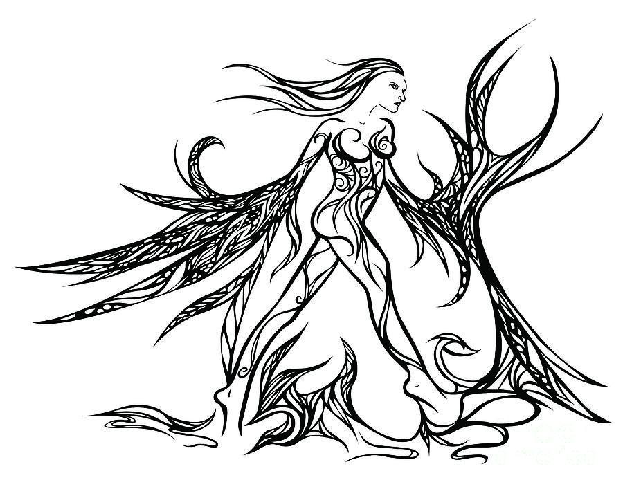 Women Drawing - Fancy Flight  by Jamie Lynn