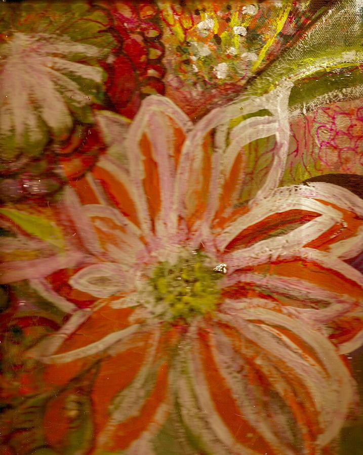 Orange Painting - Fantasia With Orange And White by Anne-Elizabeth Whiteway