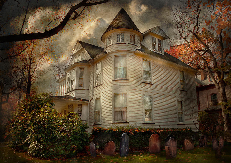 Victorian Photograph - Fantasy - Haunted - The Caretakers House by Mike Savad