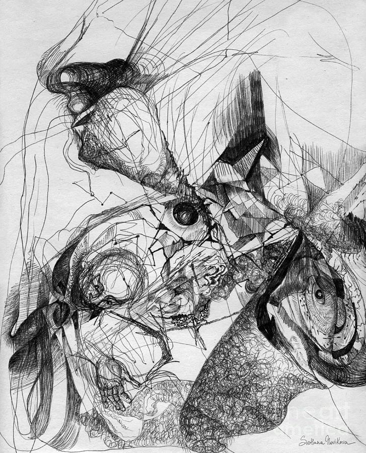 Fantasy Drawing Drawing - Fantasy Drawing 1 by Svetlana Novikova