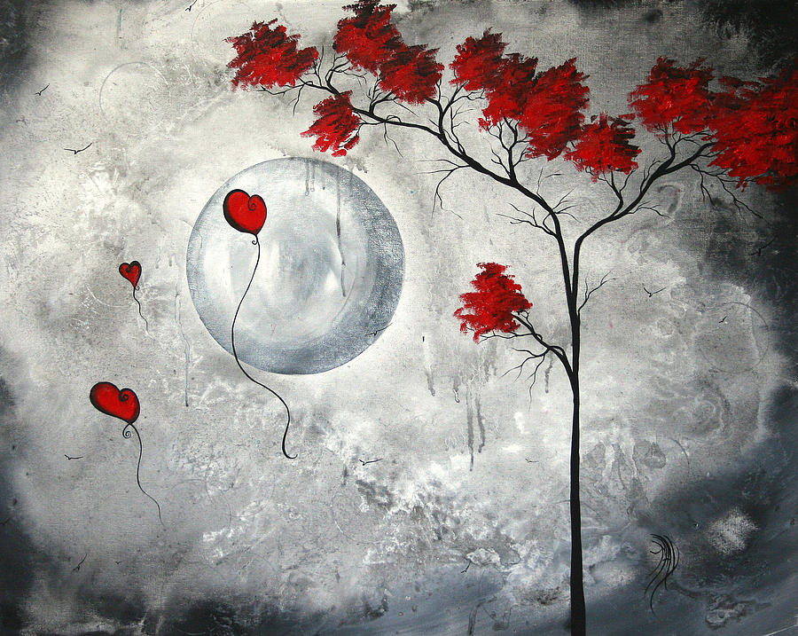 Abstract Painting - Far Side Of The Moon By Madart by Megan Duncanson