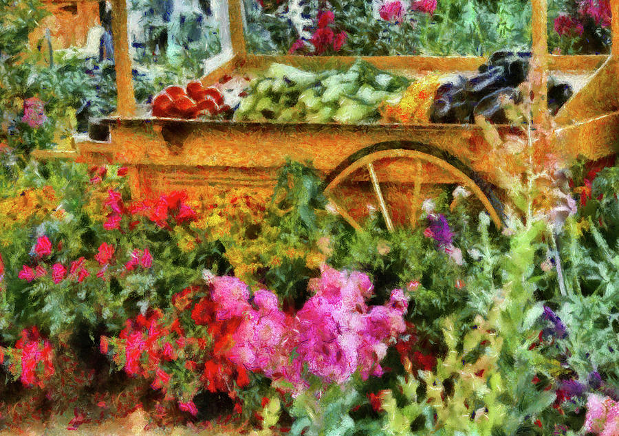 Savad Photograph - Farm - Food - At The Farmers Market by Mike Savad